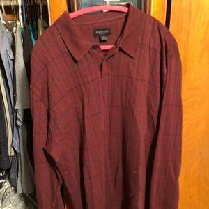 Van Huesen Mens knit shirt Size XL